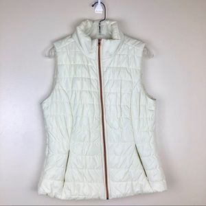 Cambridge Dry Goods Ivory Rose Gold Quilted Vest